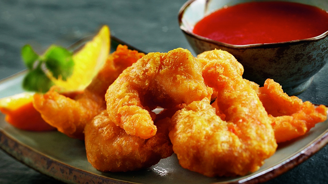 Sweet & Sour King Prawn in Batter